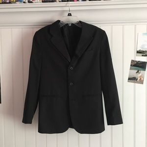 Suit Jacket size 16 black pinstriped